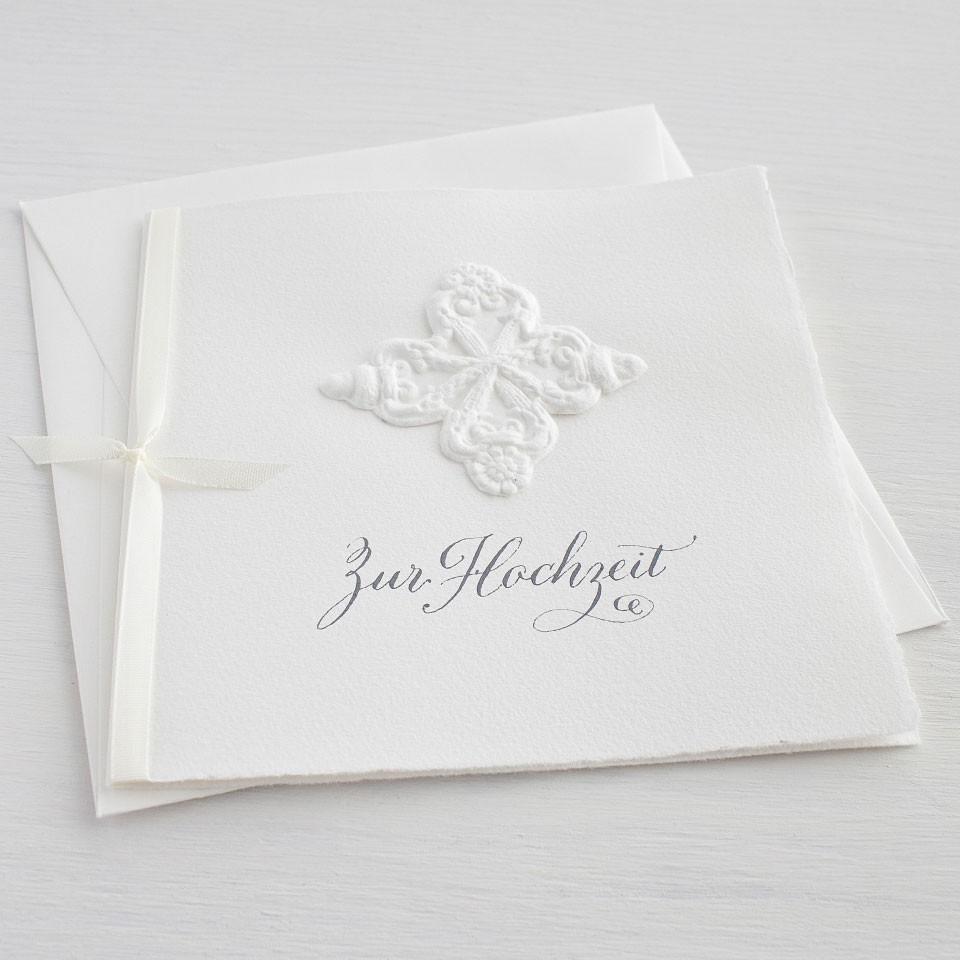 """Karte """"Zur Hochzeit"""" mit Eichel-Ornament"""