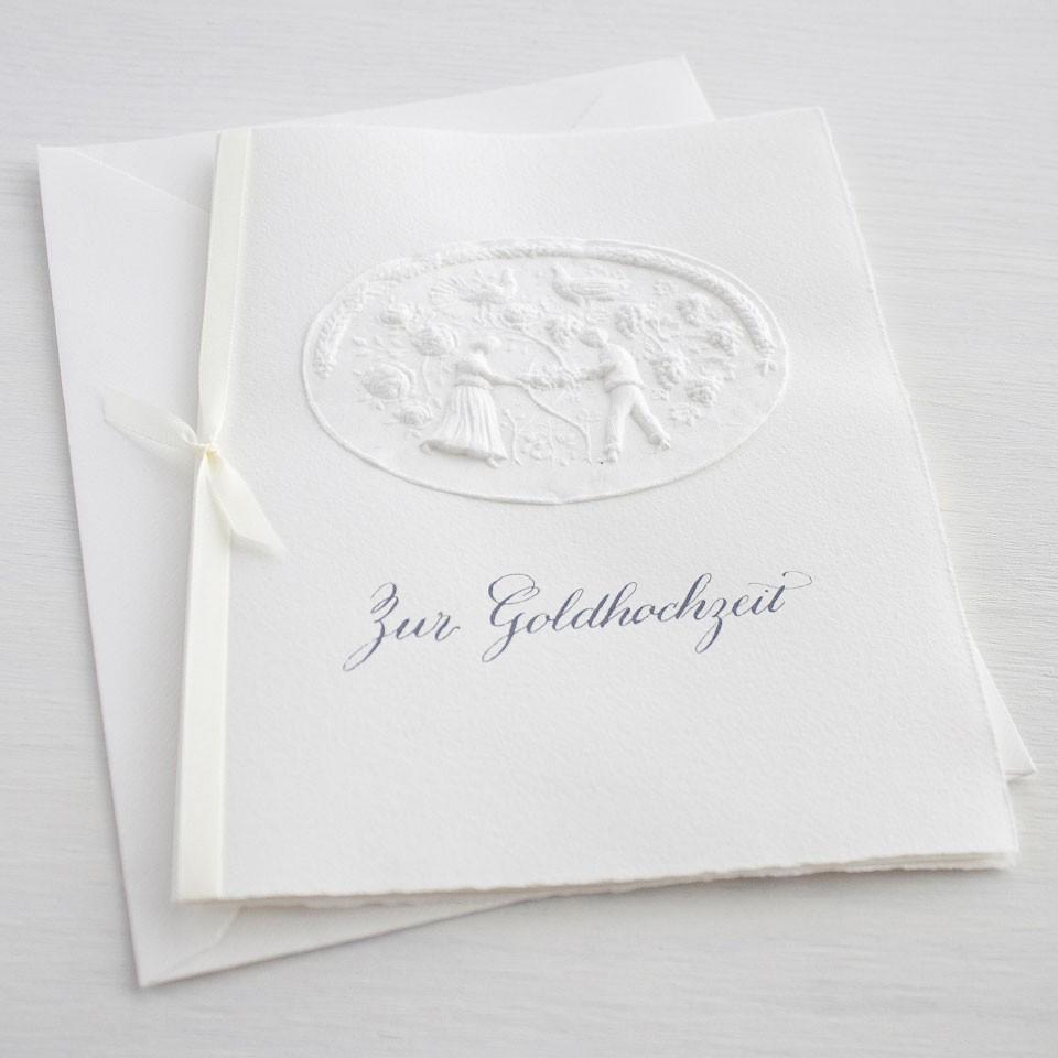 """Karte """"Zur Goldhochzeit"""" mit Liebespaar"""