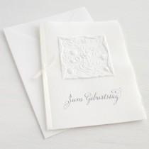"""Karte """"Zum Geburtstag"""" mit Rosenranken"""
