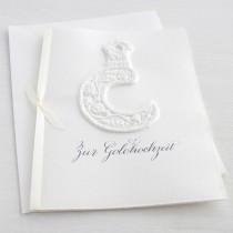 """Karte """"Zur Goldhochzeit"""" mit Sichel"""