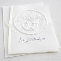 """Karte """"Zur Goldhochzeit"""" mit Füllhorn"""