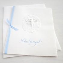 """Karte """"Schutzengel"""" blau"""