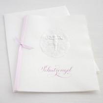 """Karte """"Schutzengel"""" rosa"""