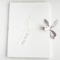 """Handgeschöpftes Briefpapier """"Geliebte Briefe"""" cremeweiß"""